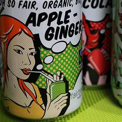 bouteille d'apple ginger et de coca