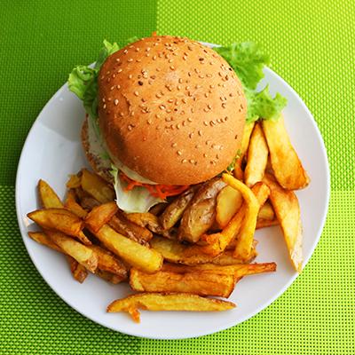 burger falafel et frites
